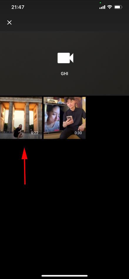 quay hoặc chọn video có sẵn