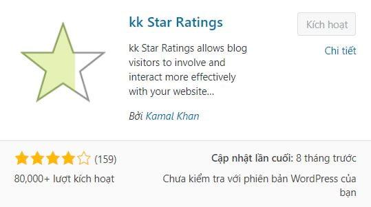 plugin hiển thị đánh giá xếp hạng sao trên google