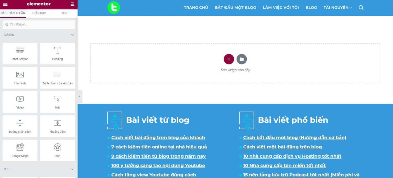 plugin-elementor-ho-tro-tao-trang-cho-blog