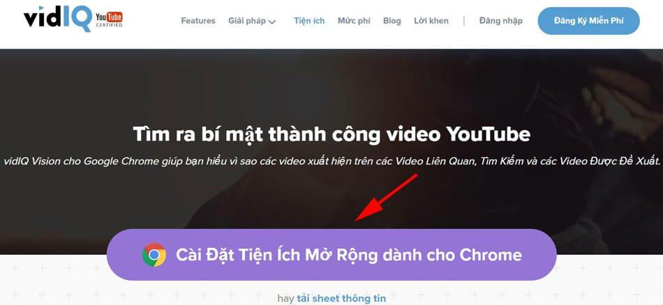 cài đặt seo youtube với phần mềm vidIQ