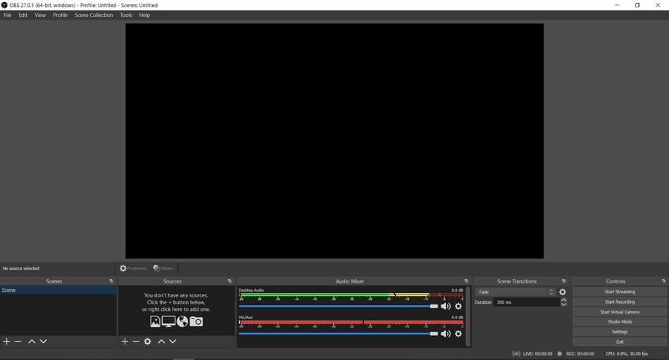phần mềm quay màn hình obs studio