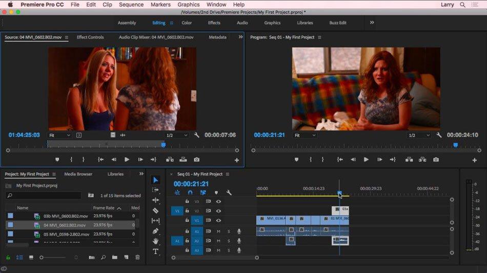 phần mềm quay video youtube adobe premiere pro