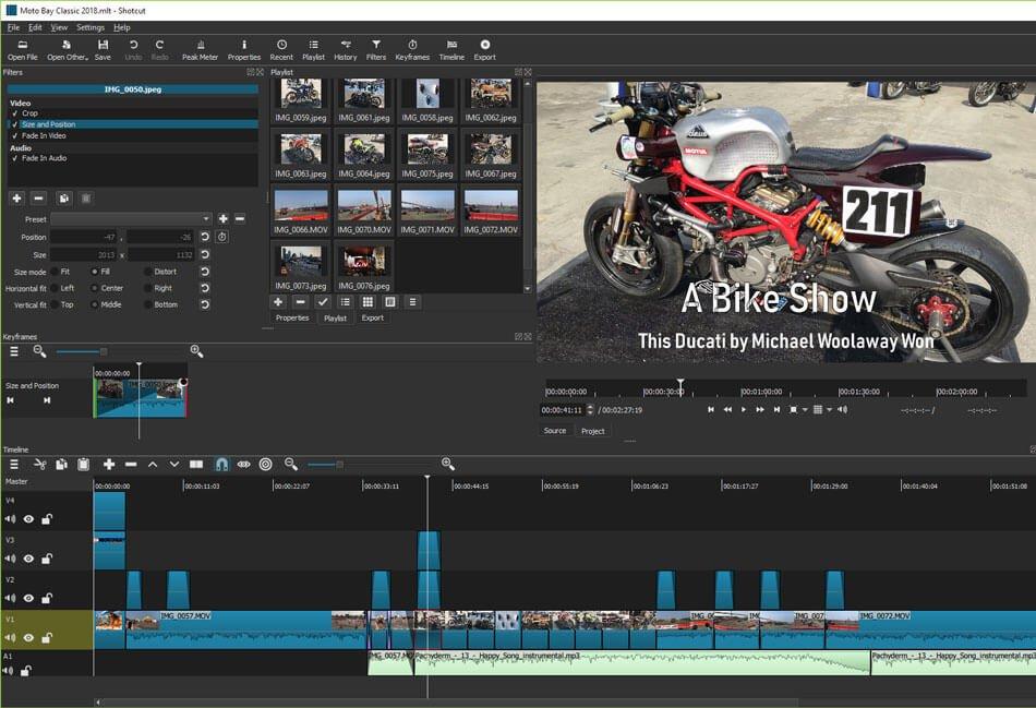 phần mềm quay video youtube shotcut