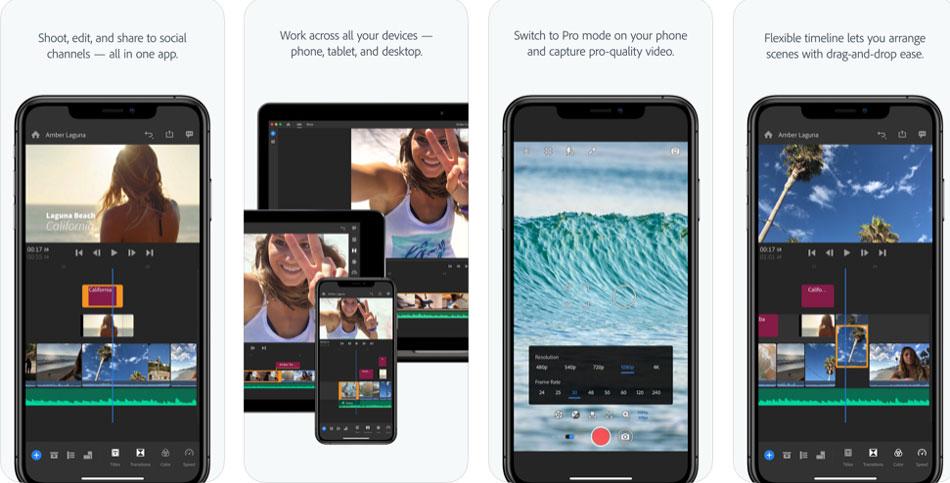 phần mềm chỉnh sửa video trên điện thoại premiere rush