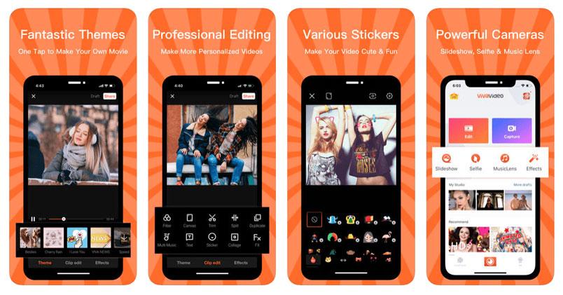 phần mềm chỉnh sửa video trên điện thoại viva video